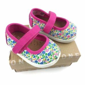 Toms Fuschia Multi Floral Mary Jane Shoes